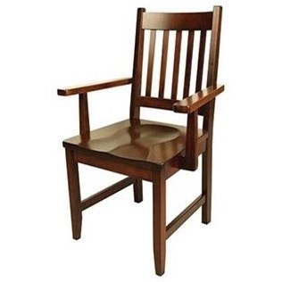 Solid Wood Customizable Arm Chair