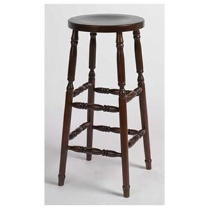 "Customizable Kitchen Stool 30"" Turned Leg"