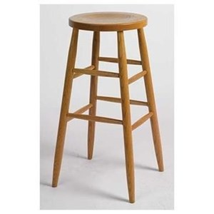 "Customizable Kitchen Stool 30"" Plain Leg"