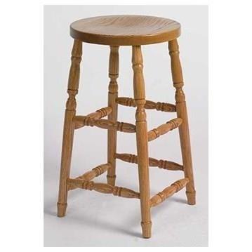 "Amish Stools Customizable Swivel Barstool 24"" Turned Leg by Horseshoe Bend at Mueller Furniture"