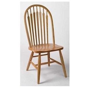 Customizable Solid Wood High Back Side Chair