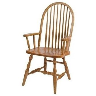 Solid Wood Deluxe High Back Arm Chair