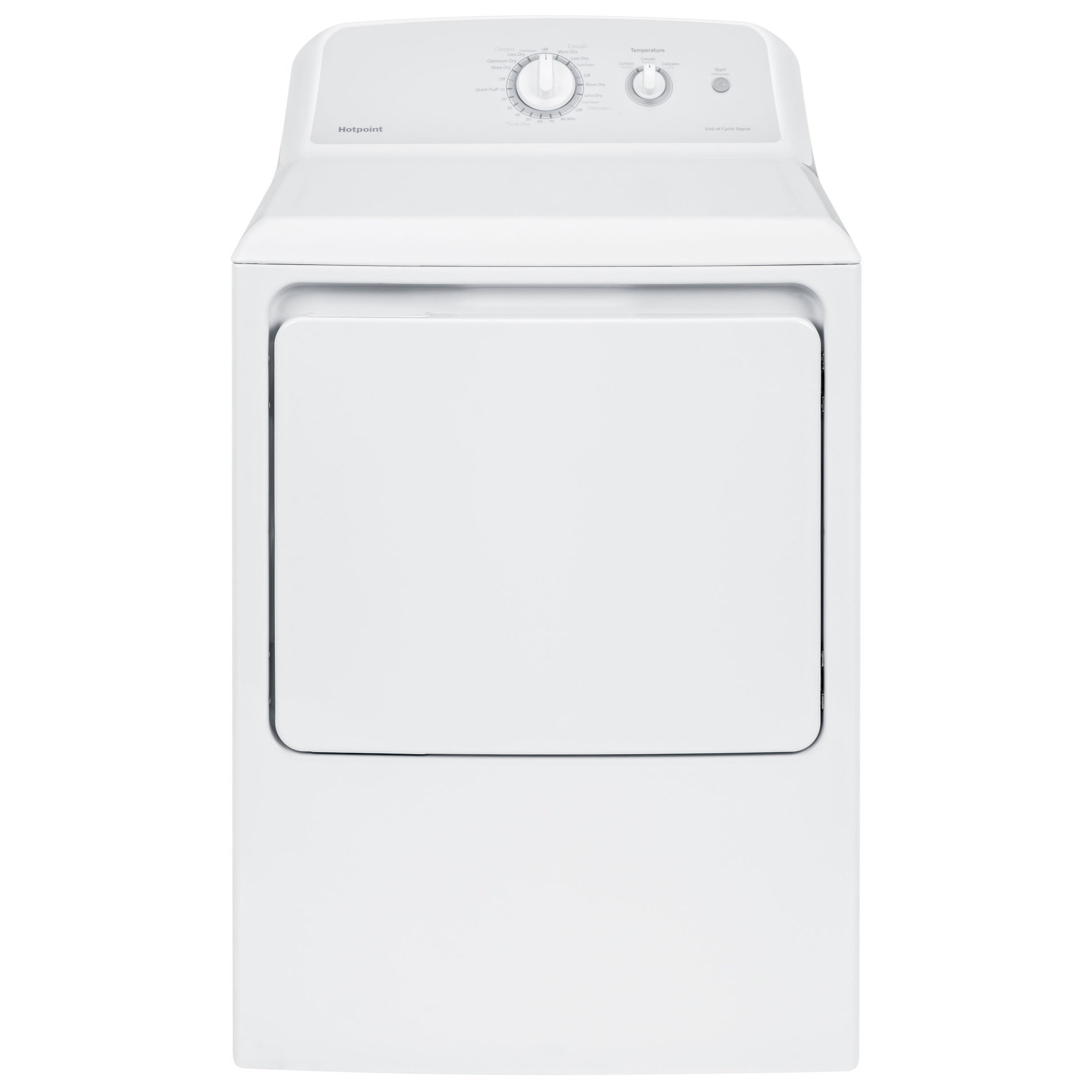 Hotpoint Dryers 6.2 Cu.Ft. Aluminized Alloy Electric Dryer - Item Number: HTX24EASKWS