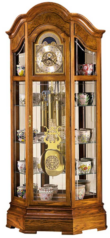 Howard Miller Clocks Majestic Curio Floor Clock - Item Number: 610940-mo