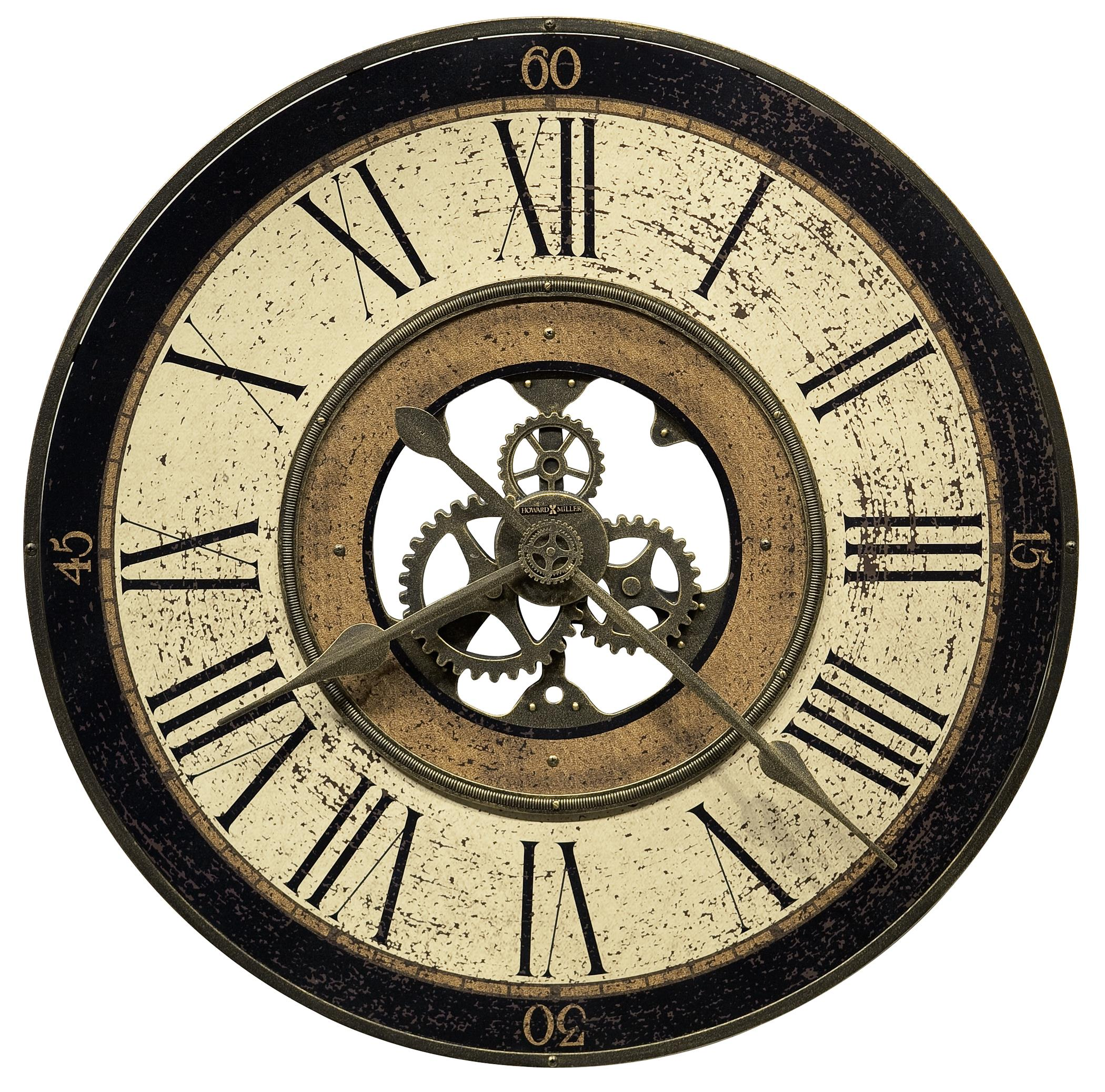 Howard Miller Wall Clocks Brass Works Wall Clock - Item Number: 625-542