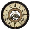 Howard Miller 625 Series Brass Works Wall Clock - Item Number: 625-542