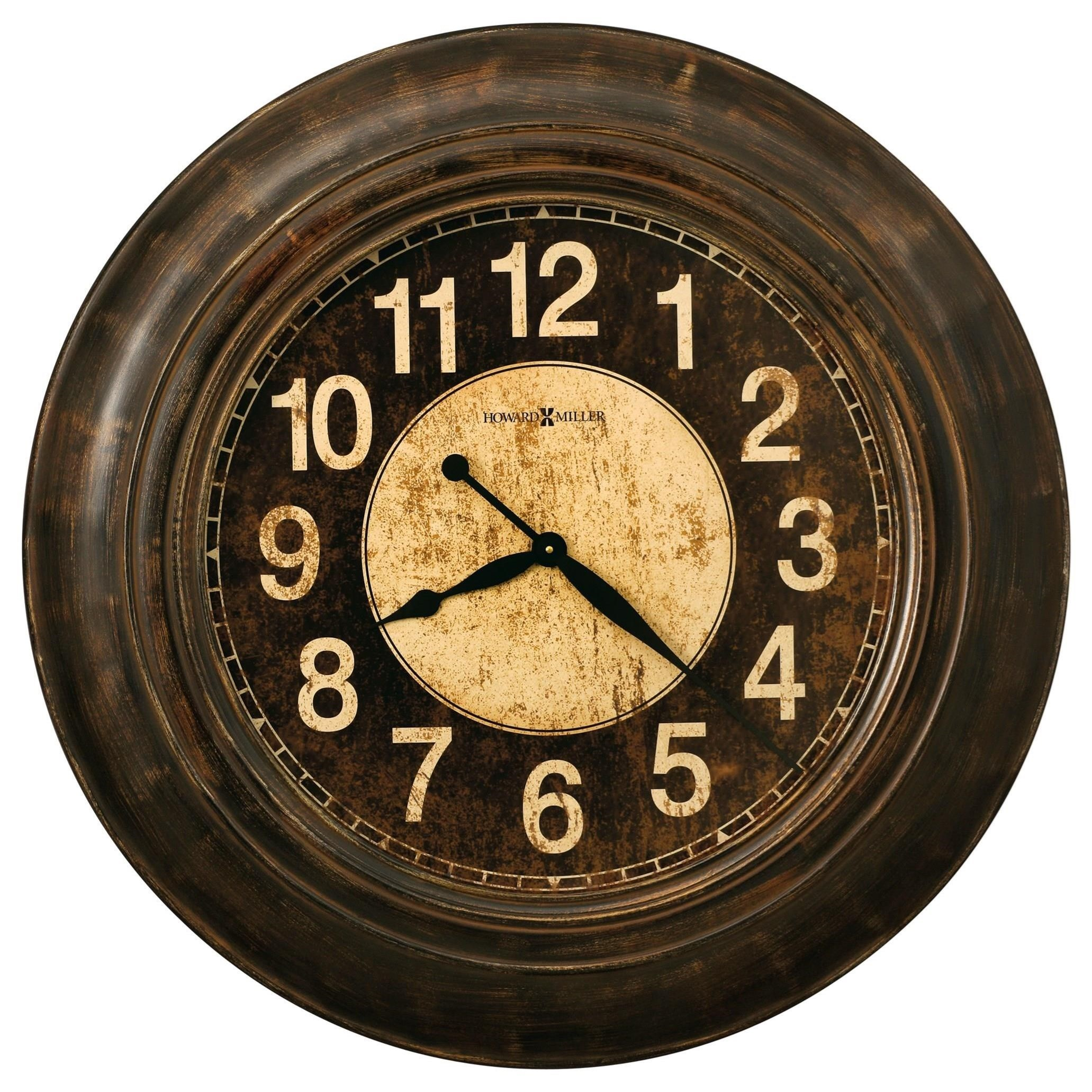 Wall Clocks Bozeman Round Wall Clock by Howard Miller at Lindy's Furniture Company