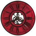 Howard Miller Wall Clocks Red Brassworks Wall Clock - Item Number: 625-569