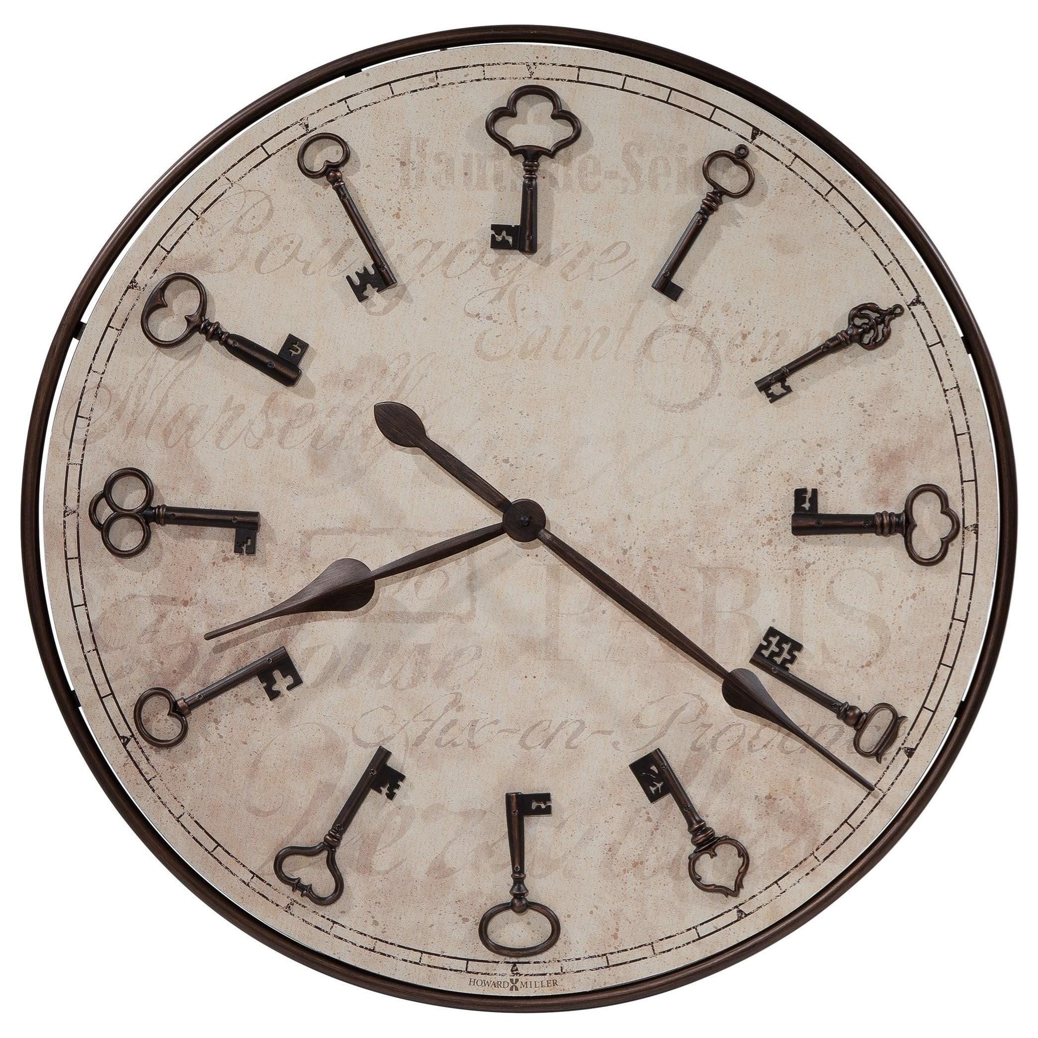 Howard Miller Wall Clocks Cle De Ville Wall Clock - Item Number: 625-579