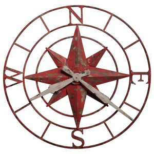 Compass Rose Wall Clock