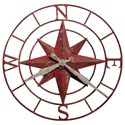 Howard Miller Wall Clocks Compass Rose Wall Clock - Item Number: 625-633