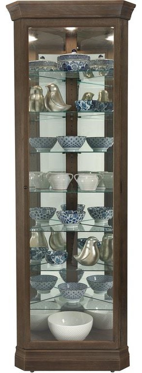 Gable Gable Curio Cabinet by Howard Miller at Morris Home