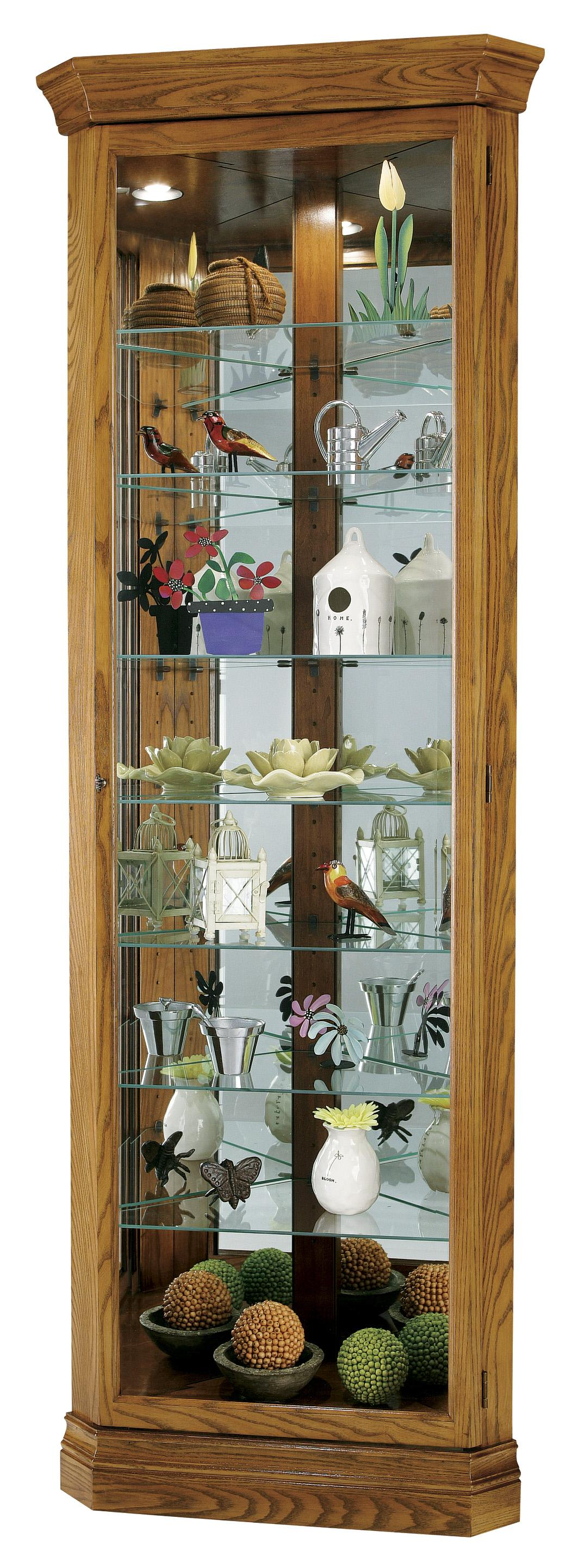 Morris Home Furnishings Corner Curios Gable Corner Curio Cabinet - Item Number: 680-485