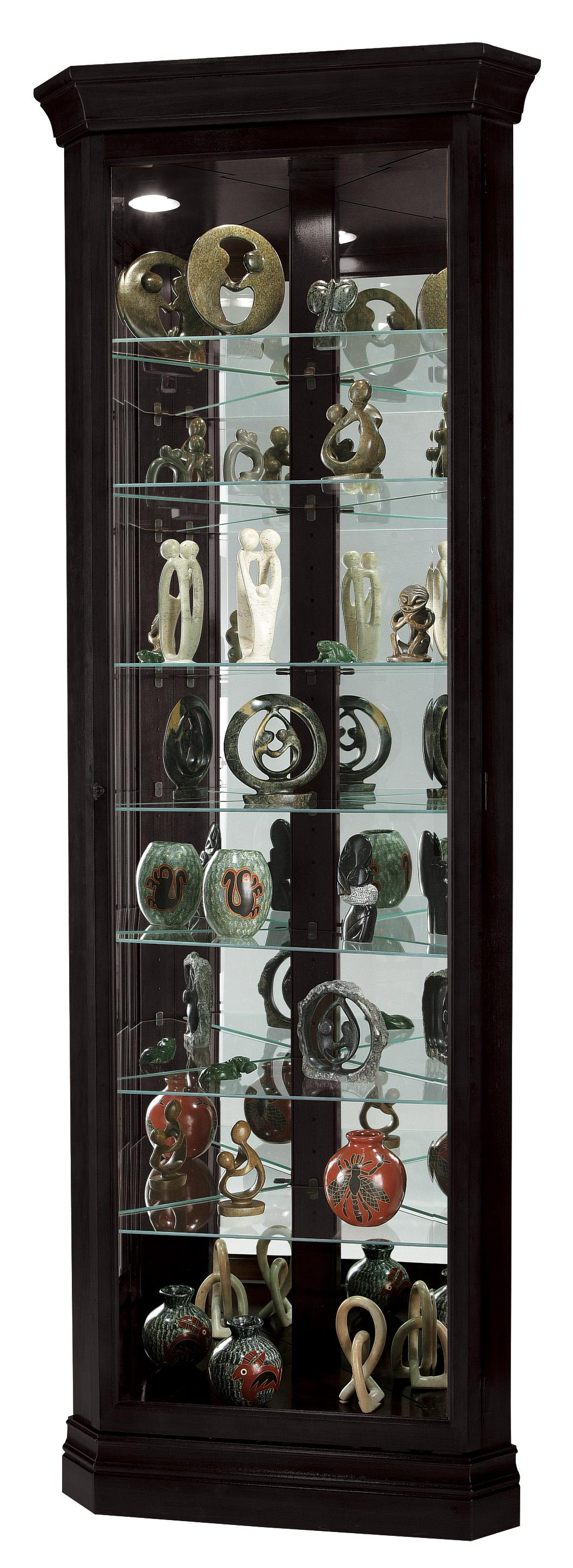 Howard Miller Corner Curios Drake Display Cabinet - Item Number: 680-487