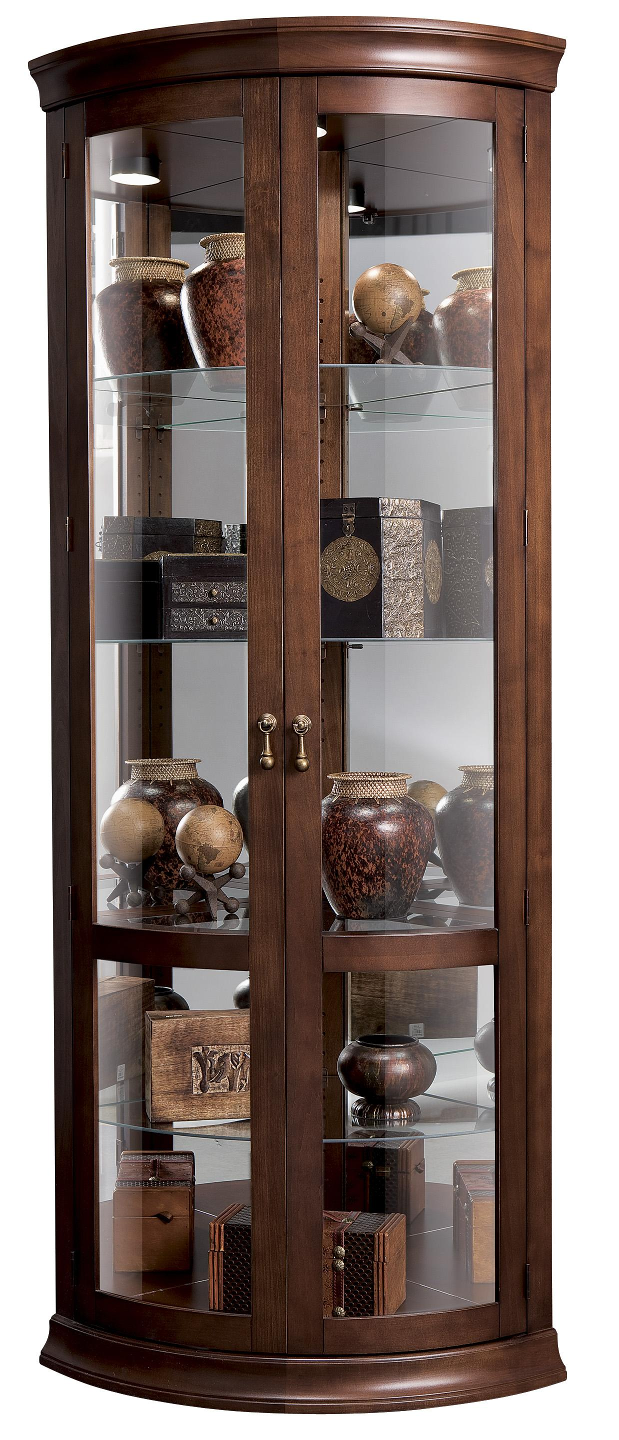 Howard Miller Corner Curios Chancellor Display Cabinet | HomeWorld ...
