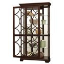 Howard Miller Furniture Trend Designs Curios Morriston Display Cabinet - Door Opened