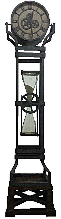 Howard Miller Iron Works Floor Clock - Item Number: 615-074