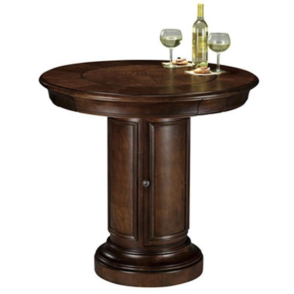 Cheap Pub Tables And Chairs: Howard Miller Ithaca Game & Pub Table With Storage Base
