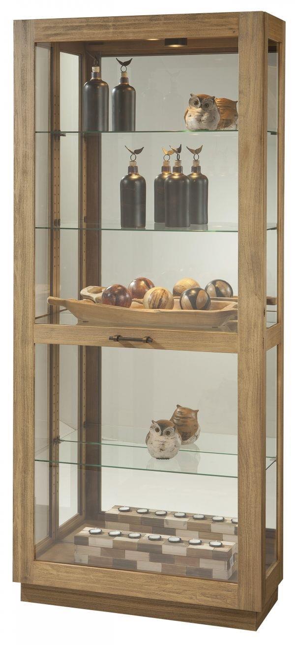 Marsh Curio by Howard Miller at HomeWorld Furniture