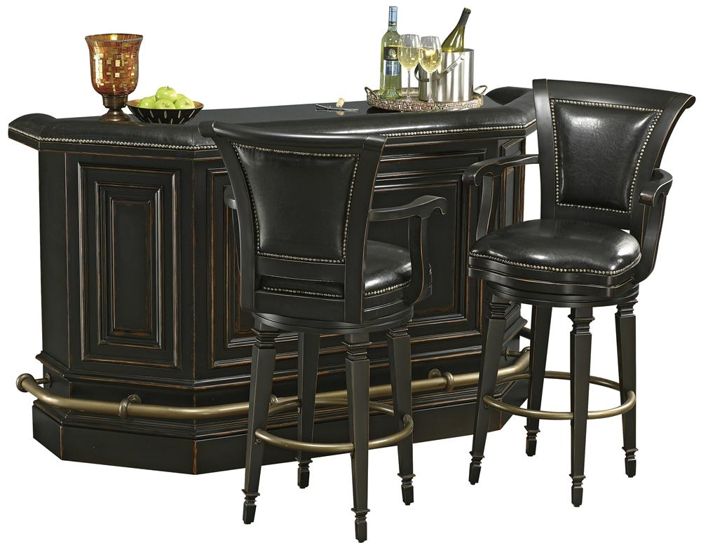 Howard Miller Northport Burnished Bar Set with Stools - Item Number: 693-009+2X697-009