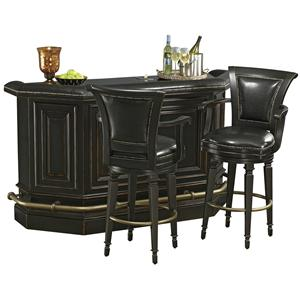 Howard Miller Northport Burnished Bar Set with Stools