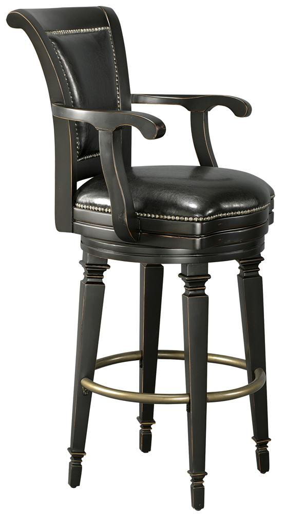 Howard Miller Northport Black Leather Bar Stool