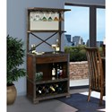Howard Miller Wine & Bar Furnishings Red Mountain Wine Cabinet with Stemware Rack