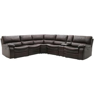 Warehouse M 10712 Power Reclining Sectional w/ Console