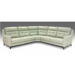 Giovani Fission Power Reclining Leather Sectional
