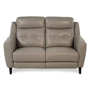 Giovani Fusion Power Reclining Leather Loveseat
