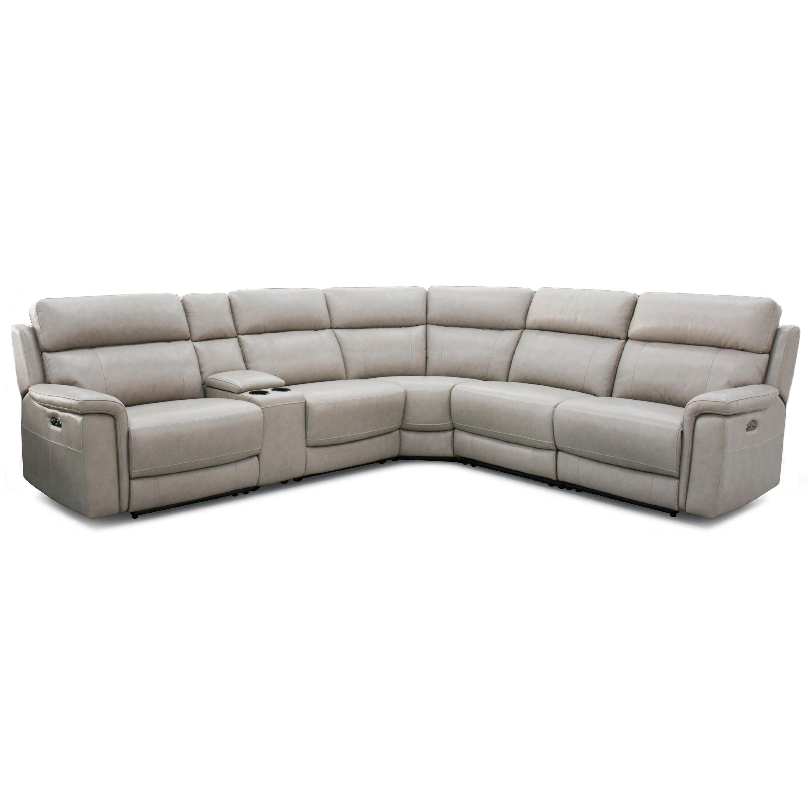 Power Reclining Sectional w/ Power Headrests
