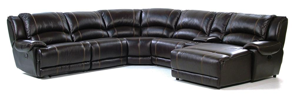 Giovani Bryant Reclining Sectional Sofa - Item Number: 2681-1.5EL1X+C+2x1.5NA1X+STA+COURAB