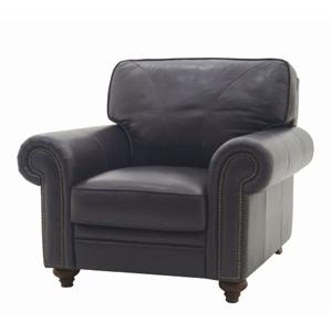 2092 Upholstered Accent Chair with Nail Head Trim by HTL