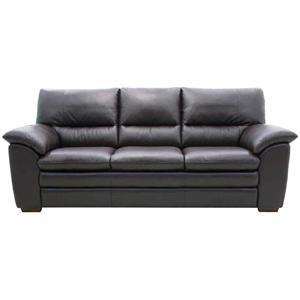 HTL 2108 Leather Stationary Sofa