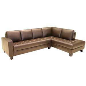 HTL 2161 2 Piece Contemporary Sectional