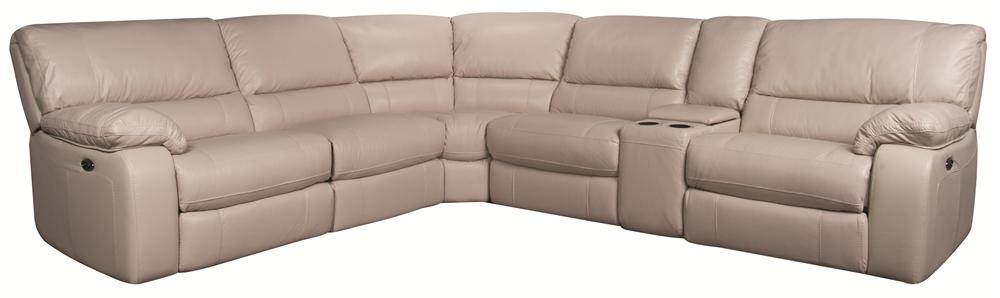 Morris Home Furnishings Xavier Xavier 6-Piece PWR Leather-Match* Sectional - Item Number: 9990-Y-CS1.25ELIV,NA1X,NA,ER+