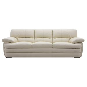 HTL 2445 Casual Leather Sofa with Pillow Arms