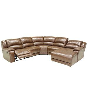 2644 Contrast Stitching Sectional Sofa with Adjustable Backrest by HTL