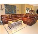 Belfort Select Skyler 2678 Reclining Sectional Sofa - Item Number: 2678-EL1V+OURAB+NA1V+NA+STA+C