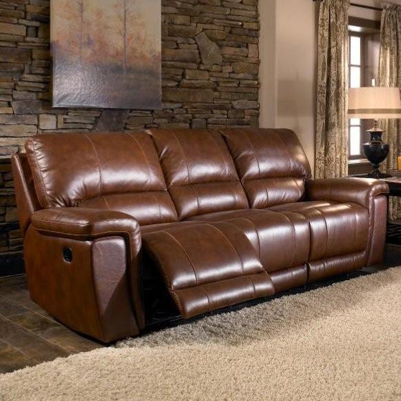 Htl 2678cs Reclining Leather 3 Seat Sofa