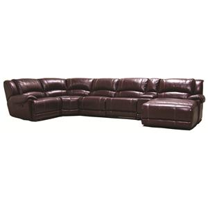 HTL 2681 Power Reclining Sectional Sofa with RAF Chaise