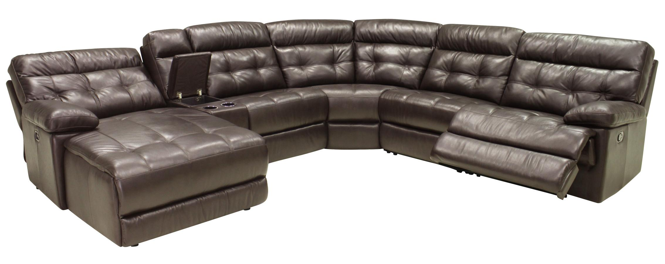 6 Pc Reclining Sectional Sofa w/ LAF Chaise