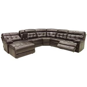 HTL 2775 Six Piece Power Reclining Sectional Sofa with LAF Chaise