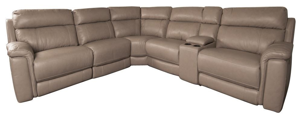 Houston Leather Match Power Sectional Sofa