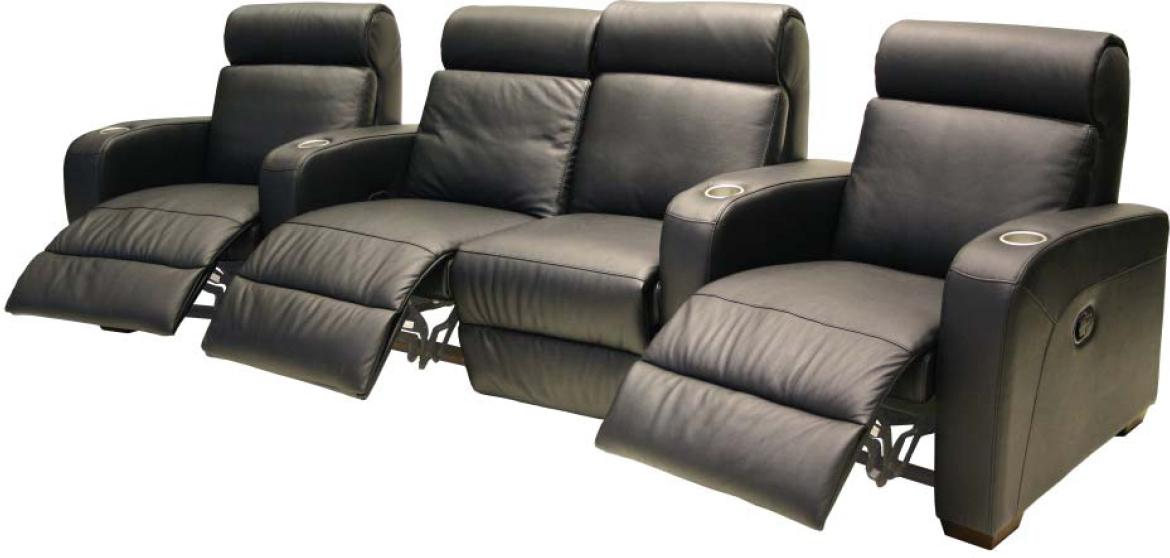 Htl 8071 Contemporary Leather Theater Seating Group