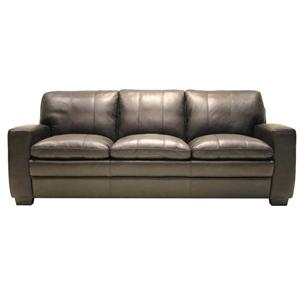 8096 Leather Stationary Sofa by HTL