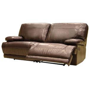 8280 Contemporary Leather Reclining Loveseat by HTL
