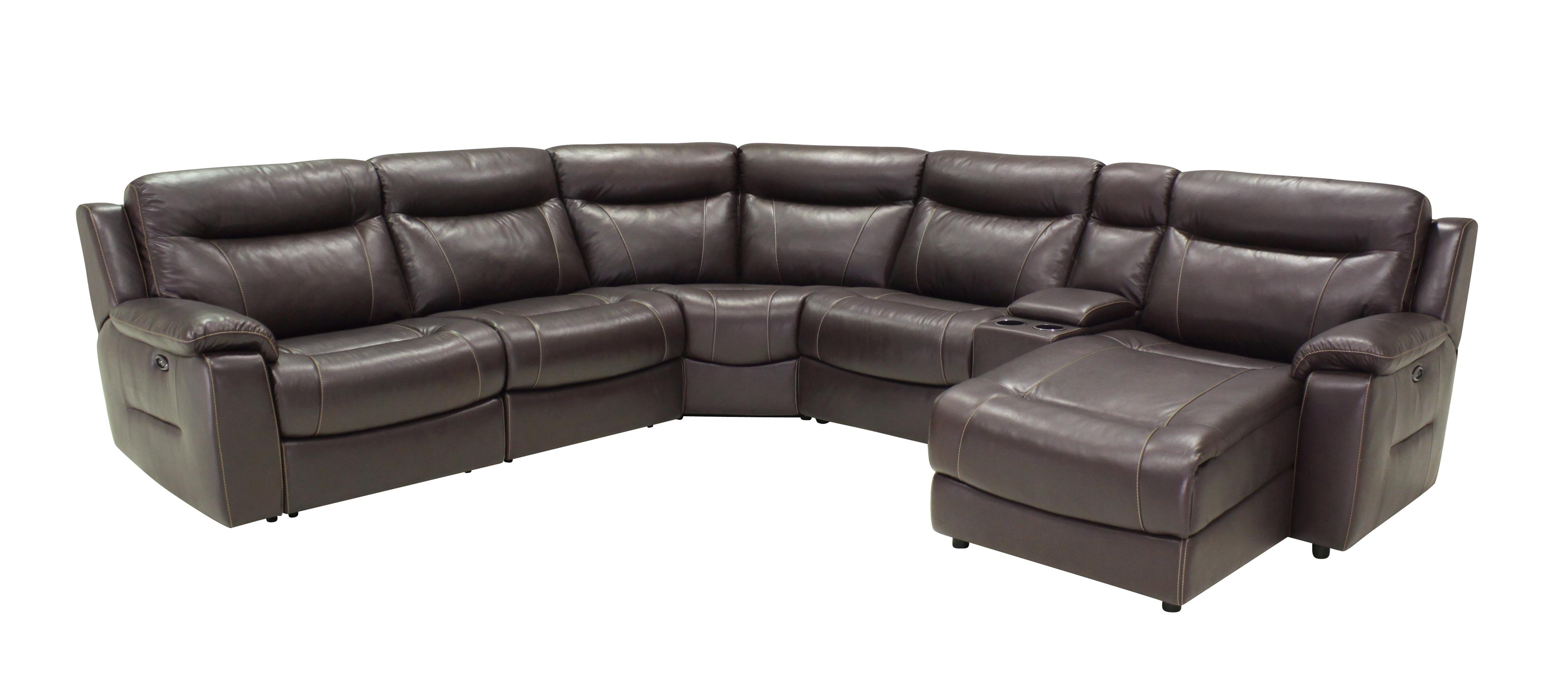 6 Pc Reclining Sectional Sofa