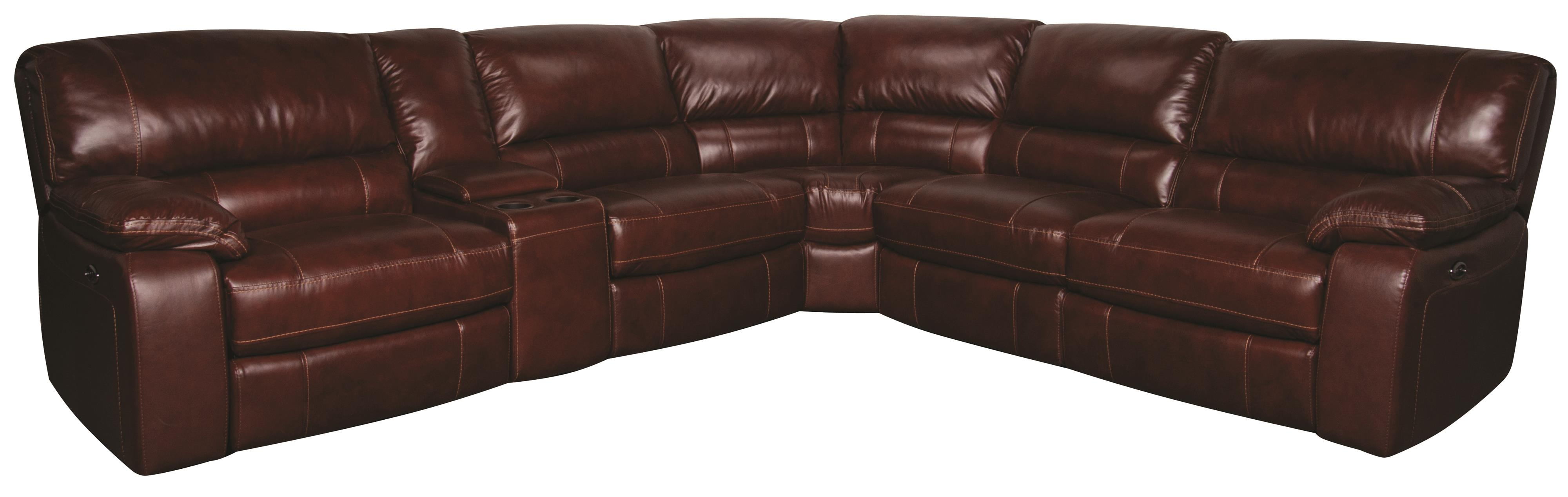 Xavier 6 Piece Power Leather Match Reclining Sectional Morris