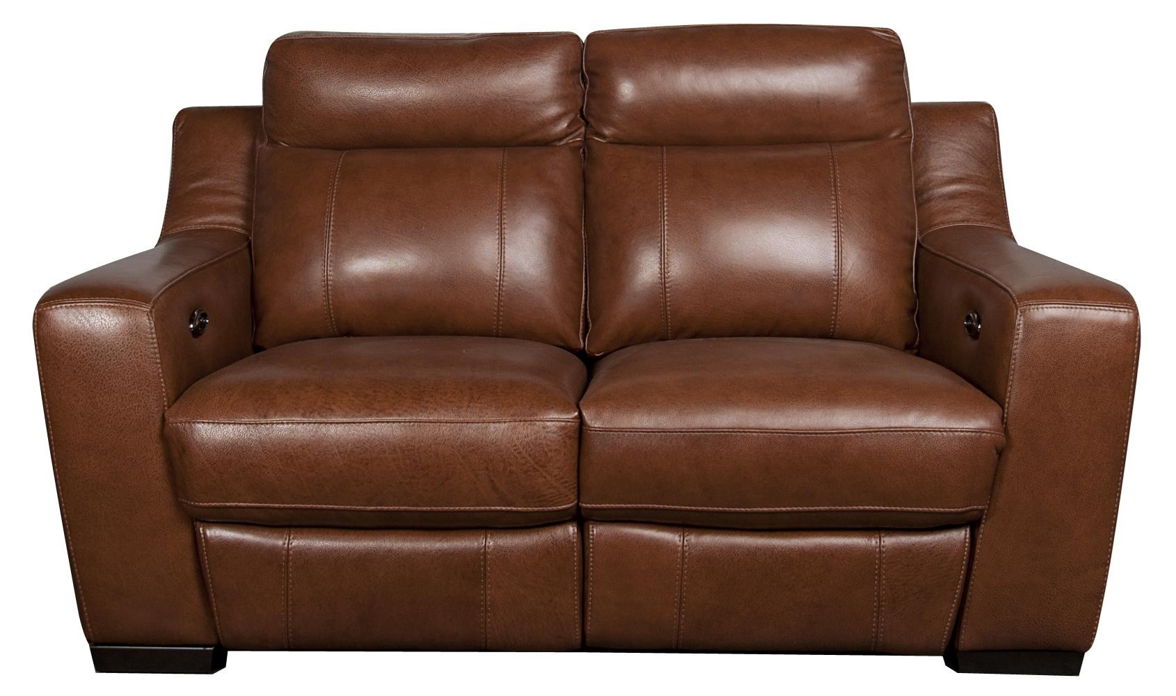 San Lorenzo Andy Leather Match Power Reclining Loveseat Morris Home Reclining Love Seats